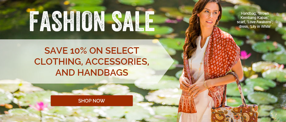 Fashion sale! Save 10% on select clothing, accessories, and handbags. Shop now!