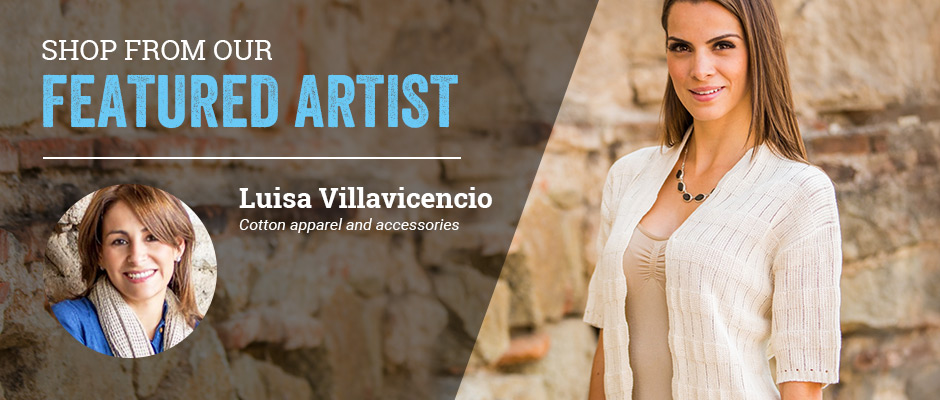 Shop from our featured artist! Luisa Villavicencio, Cotton apparel and accessories.